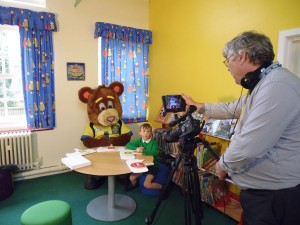 999 Ted being filmed at Fair Oak School
