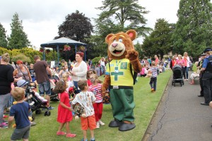Ted at family fun day