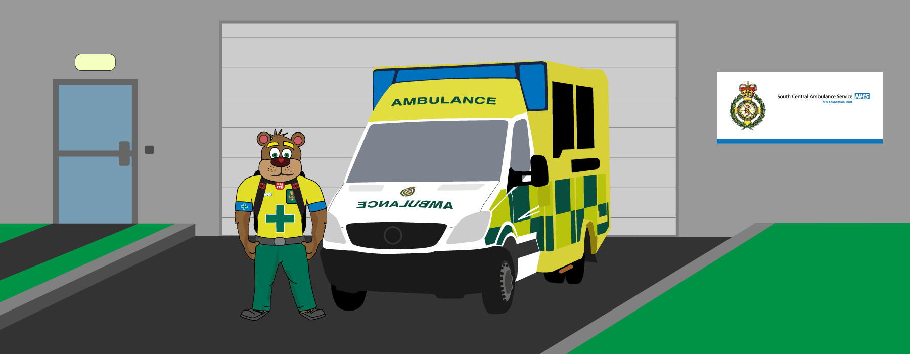 999 Ted and an ambulance