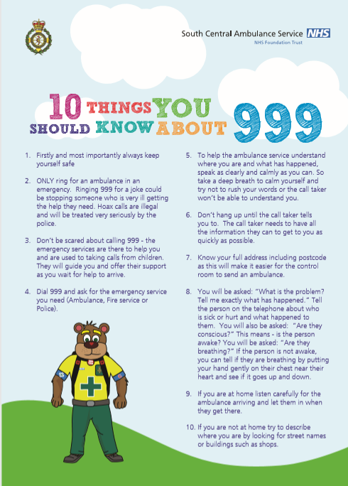 Learn 10 things about 999