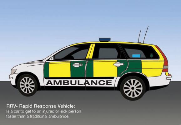 Rapid Response Vehicle Colouring Sheet