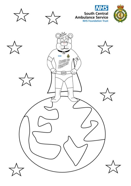 999 Ted World Colouring Sheet