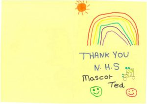 Thank you card for 999 Ted